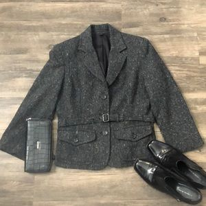 Express Charcoal Gray Career Blazer